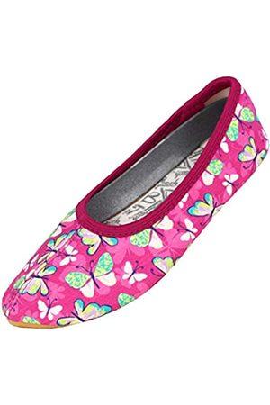 Beck Girls' Harmonie Gymnastics Shoes, (Fuchsia 21)