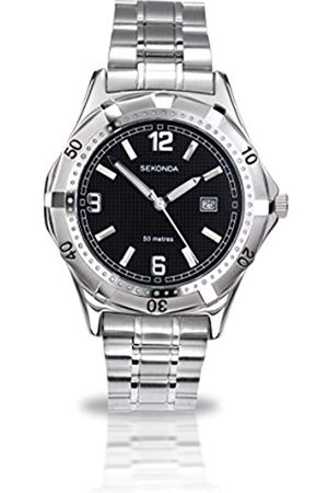 Sekonda Men's Quartz Watch with Dial Analogue Display and Silver Stainless Steel Bracelet 3329.27