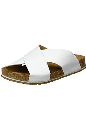 HAFLINGER Unisex Adults' Bio Mio T-Bar Sandals, (Weiß 702)