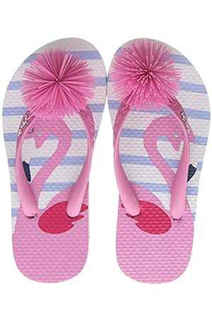 Joules Girls Flip Flops, ( Flamingo Whtflmingo)
