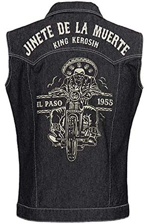 King Kerosin Men's Jinete De La Muerte Denim Vest