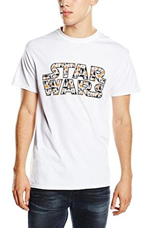 STAR WARS Men's VII Heroes Logo Pattern T-Shirt