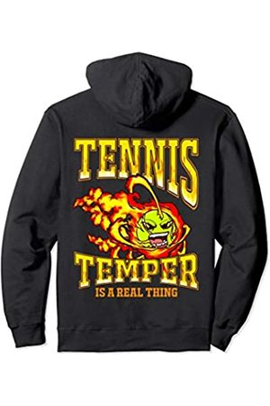 Tee Styley Tennis Temper Is A Real Thing Player Coach Team Men Women Pullover Hoodie