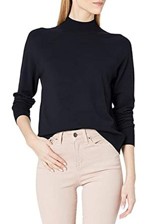 Daily Ritual Fine Gauge Stretch Ribbed Turtleneck Sweater Navy