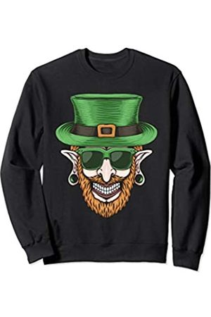 Salem Patrick Day Smiley Guy With Green Hat Shamrock Eyeglass Patrick Day Gift Sweatshirt