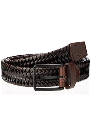 Calvin Klein Men's Braided Fixed Leather Belt