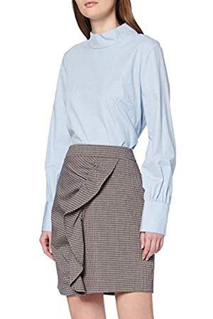 warehouse Women's Check Frill Pelmet Skirt