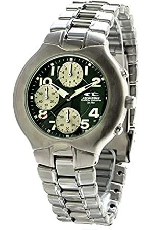 Chronotech Mens Chronograph Quartz Watch with Stainless Steel Strap CT7059-02M