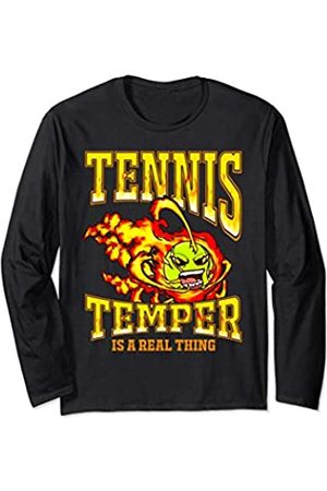 Tee Styley Tennis Temper Is A Real Thing Player Coach Team Men Women Long Sleeve T-Shirt