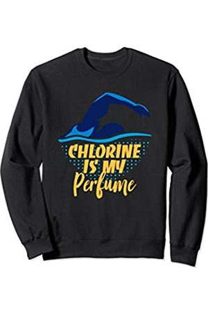 Swimming Water Pool Sports Athletes Gift Tees Chlorine Is My Perfume Funny Swimmers Swimming Sweatshirt