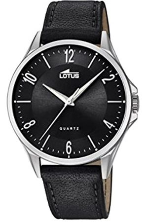 Lotus Mens Analogue Classic Quartz Watch with Leather Strap 18518/4