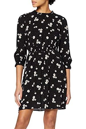 Dorothy Perkins Women's Daisy High Neck Shirred Waist Fit and Flare Dress