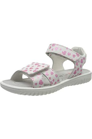 Superfit Girls' Sparkle Ankle Strap Sandals, (Weiss/Rosa 10)
