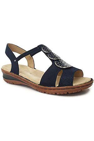 ARA Women's Hawaii T-Bar Sandals, (Blau 73)