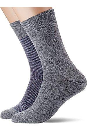 Esprit Men Contrasty Piqué 2-Pack Socks - 85% Cotton (Flint 3620), UK 8.5-11 (Manufacturer size: 43-46)