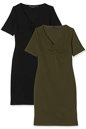 Dorothy Perkins Women's and Khaki Bodycon 2 Pack Dress Casual