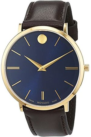 Movado Mens Analogue Classic Quartz Watch with Leather Strap 607088