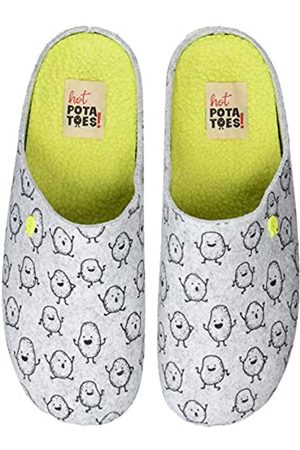 HOT POTATOES Men's 41415 Open Back Slippers, Gris