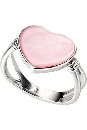 Elements Mother of Pearl Heart Ring - Size K