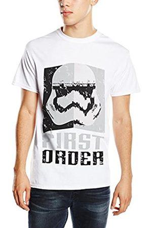 Star Wars Men's VII First Order Stormtrooper Head Grey T-Shirt
