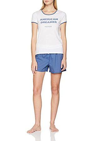 Tommy Hilfiger Women's Ss Woven Boxer Set Pyjama, ( /True Navy 088)