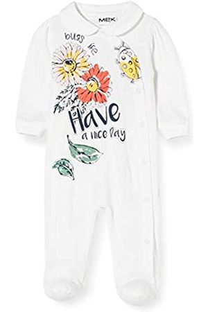 MEK Baby Girls' Tutina Jersey Aperta Con Colletto Playsuit, (Off 01#Nero/A)
