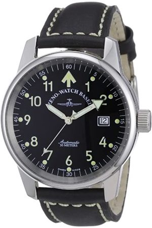 Zeno Men's Automatic Watch Classic Pilot 6554RA-a1 with Leather Strap