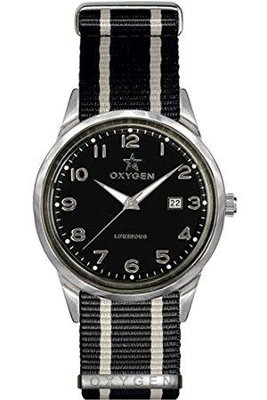 Oxygen Mamba 40 Mens Quartz Watch with Dial Analogue Display and Nylon Strap EX-SV-MAM-40-NN-BLIVBL