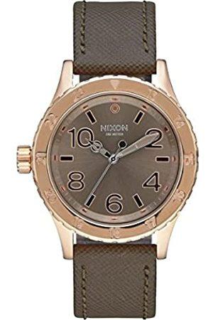 Nixon Unisex Adult Analogue Quartz Watch with Leather Strap A467-2214-00