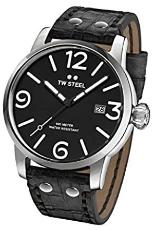 TW steel Unisex Adult Analogue Classic Quartz Watch with Leather Strap MS61
