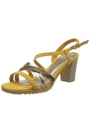 Marco Tozzi Women's 2-2-28712-24 Ankle Strap Sandals, (Saffron Comb 656)