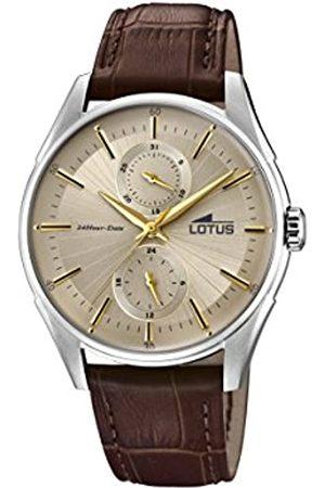 Lotus Mens Multi dial Quartz Watch with Leather Strap 18523/2