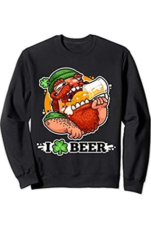 Salem Patrick Day Funny Guy With Green Hat Shamrock Drink Beer St Patrick Gift Sweatshirt