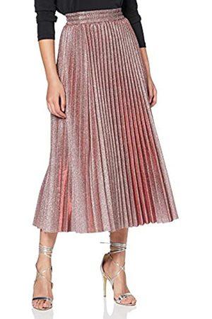 New Look Women's Go Glitter Pleated Midi Skirt
