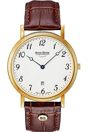 Bruno Söhnle Mens Analogue Quartz Watch with Real Leather Strap 17-33109-920