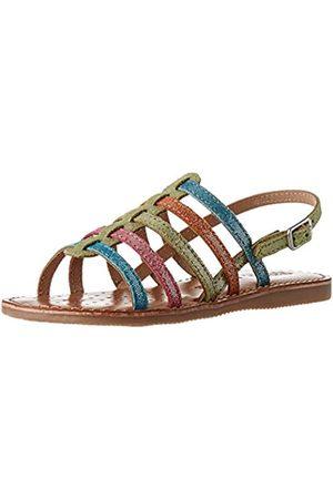 Geox Girls' J Sandal Eolie Open Toe, (Multicolor C0896)
