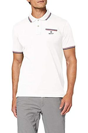 GANT Men's D1. 3-col Tipping Pique Ss Rugger Polo Shirt