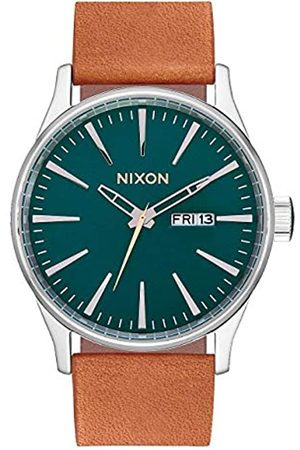 NIXON Analog Quartz Watch with Real Leather Strap A105-2535-00