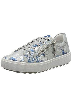 Remonte Women's D1000 Low-Top Sneakers, (Offwhite- /Ice 90)