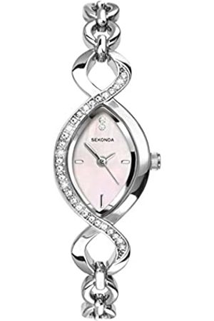 Sekonda Women's Quartz Watch with Mother of Pearl Dial Analogue Display and Stainless Steel Bracelet 4684.27