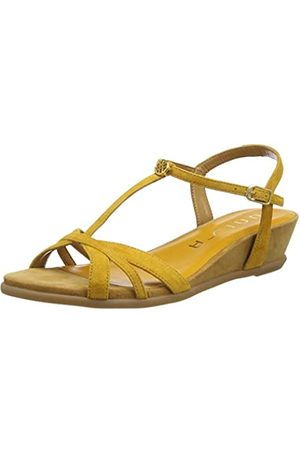 Unisa Women's Binar_ks T-Bar Sandals, (Mustard Mustard)