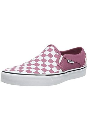 Vans Women's Asher Slip On Trainers, ((Checkerboard) Heather Rose/ Xwm)