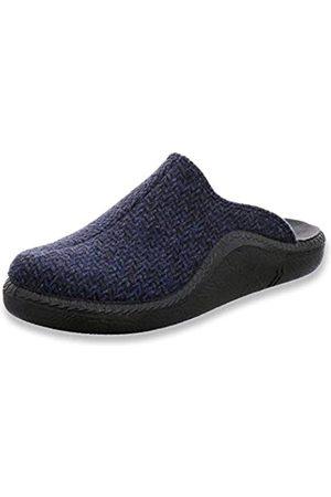 Romika Men's Mokasso 307 Open Back Slippers, (Ocean 530 530)