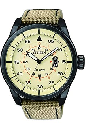 Citizen Men's Wristwatch Analog Nylon Quartz AW1365-19P