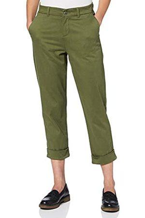 MERAKI Women's Stretch Slim Fit Cropped Chino Trouser
