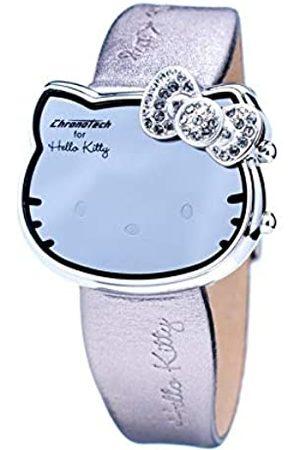 Chronotech Digital Quartz Watch with Leather Strap CT7104L-22