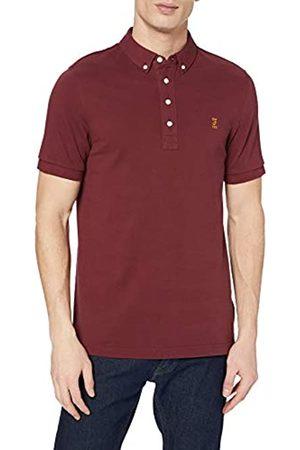 Farah Men's Ricky 100 Polo Shirt, Raspberry 620