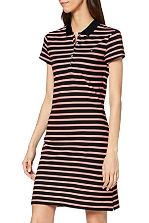 Tommy Hilfiger Women's Slim Stripe Polo Dress, (Breton STP/Desert Sky- Gr. 0Ea)