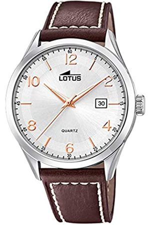 Lotus Mens Analogue Quartz Watch with Leather Strap 18634/1