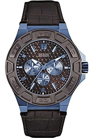 Guess Men's Analogue Quartz Watch with Leather Strap W0674G5